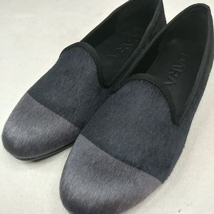 """New DARA """"ELBA"""" Slippers Loafers black gray cap to"""